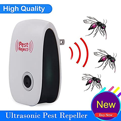 LK&smart Powerful Ultrasonic Pest Repeller, Electric Wall Plug Repellent for Mice Cockroaches Bed Bugs Flies and more, Humans & Pets - Pest Barrier