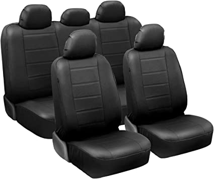 Car seat covers fit BMW 3 Series black//blue  leatherette full set