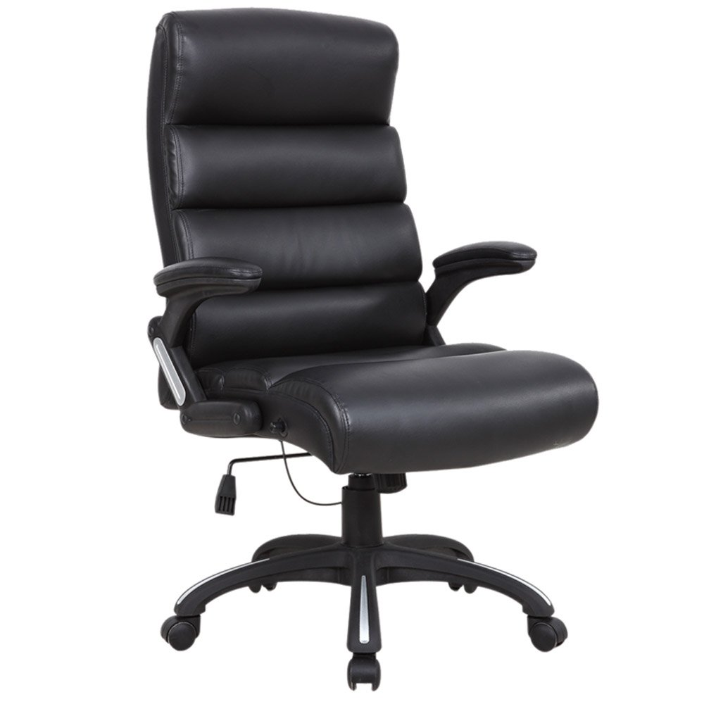 Black CH08902/_D01 Glamour Reclining Office Chair Executive Home Computer Desk Recliner Chair