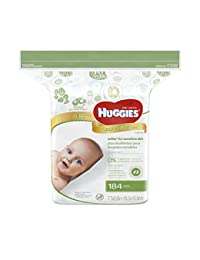 HUGGIES Natural Care Baby Wipes, Refill Pack (184 Sheets Total), Fragrance-free, Alcohol-free, Hypoallergenic BOBEBE Online Baby Store From New York to Miami and Los Angeles