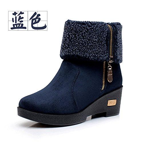 FLYRCX Meine Damen Schuhe mit Herbst und Schnee Winter Schnee und Stiefel warme Cashmere Keile d621d0