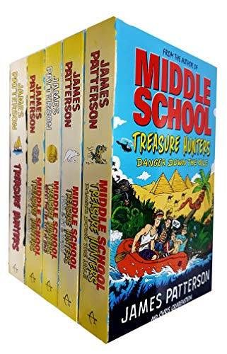 (Middle School Treasure Hunters Series Collection 5 Books Set by James Patterson)