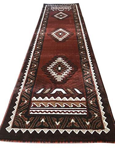 (Kingdom Southwest Native American Indian Runner Rug Rust Beige & Brown D143 (2 Feet X 7 Feet))