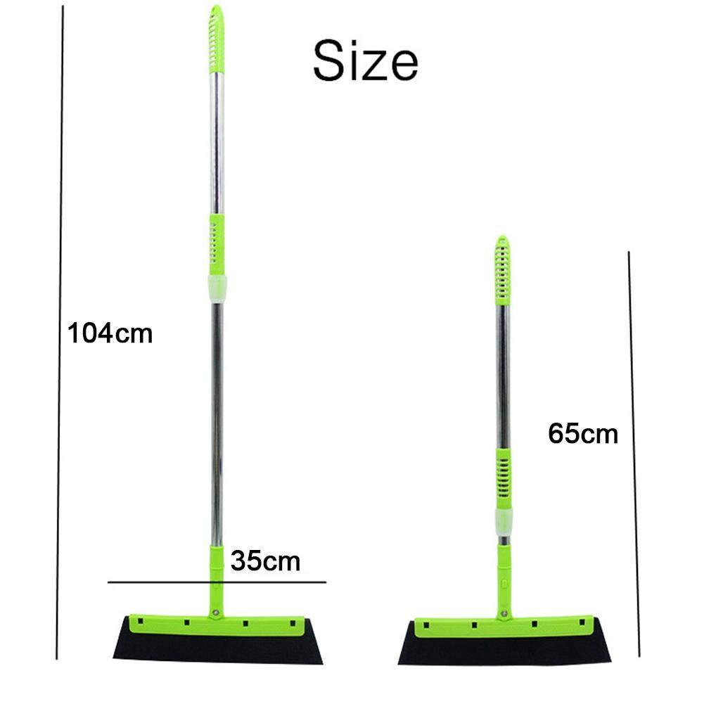 Dire-wolves Scopa da Bagno Dual Use Broom Dry e Wet Multi-Purpose 180 /° Smart Wroom per Interni ed Esterni