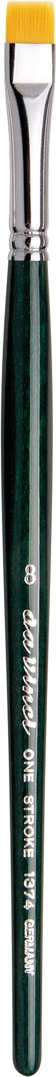 da Vinci Nova Series 1374 One Stroke Brush, One Stroke Short Flat Synthetic, Size 8 by da Vinci Brushes