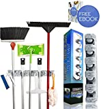 Best Broom Holder The Most Powerful Grippers Mop Broom Holder. 100% Secure Non-Slide & Sturdy Wall Mount Broom Mop Holder & Organizer. Effortless Installation (Screws Included). 5 Positions 6 Hooks