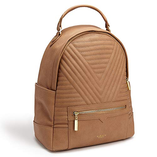 LaBante -Camberwell- Vegan Leather Backpack for Women - Brown Backpack Cute  Backpacks for Girls c9b6974303815