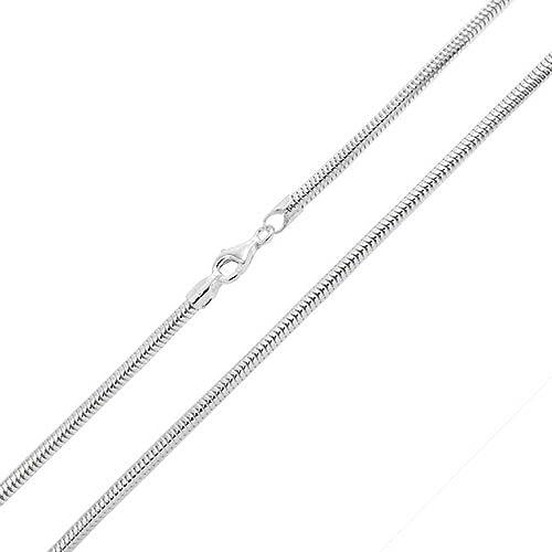 Cadena De Plata Esterlina 51cm//20in Diamante De Corte Serpiente Nuevo