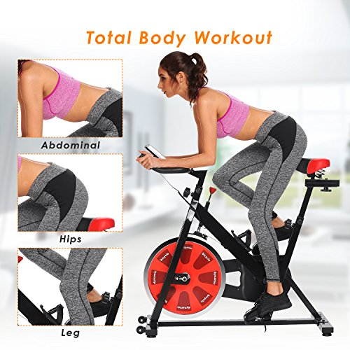 ANCHEER Stationary Bike, Indoor Cycling Exercise Bike 40 LBS Flywheel (Black_NO Pulse) by ANCHEER (Image #7)