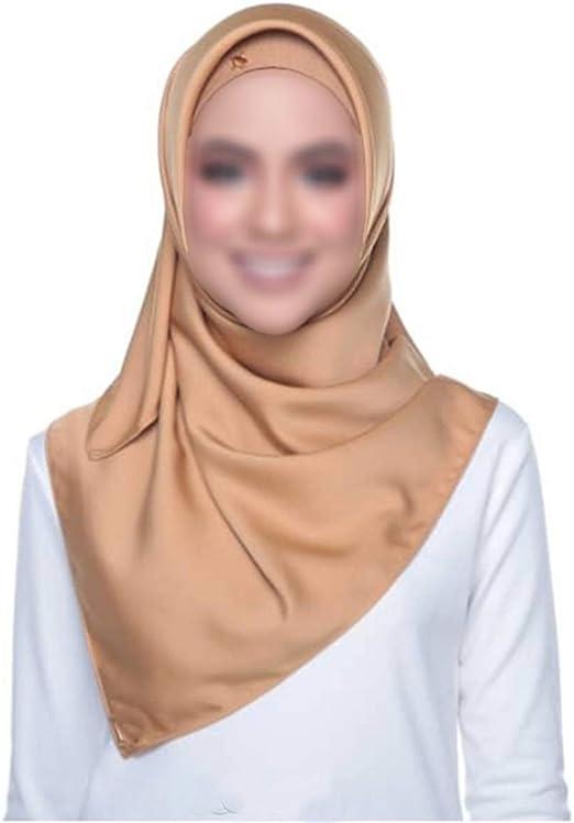 Women Gift Satin-Silk Scarf Shawl Head Neck Wraps Muslim 90cm Hijab Islamic L0S0
