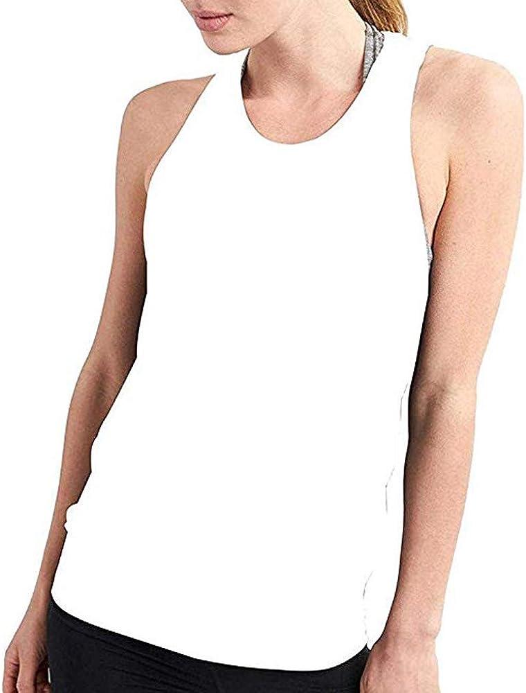 Camiseta sin Manga para Mujer, Camiseta Tirantes sin Mangas de Deporte para Mujer Verano Sexy Tank Top Clásico Chaleco para Fitness Gimnasio Yoga Camiseta de Pijama Dormir vpass: Amazon.es: Ropa y accesorios