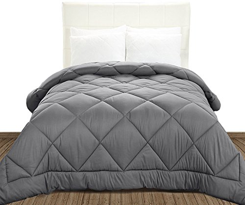 Utopia Bedding Comforter Duvet Insert - Ultra Plush, Siliconized fiberfill, Down Alternative Comforter (Queen, Grey)