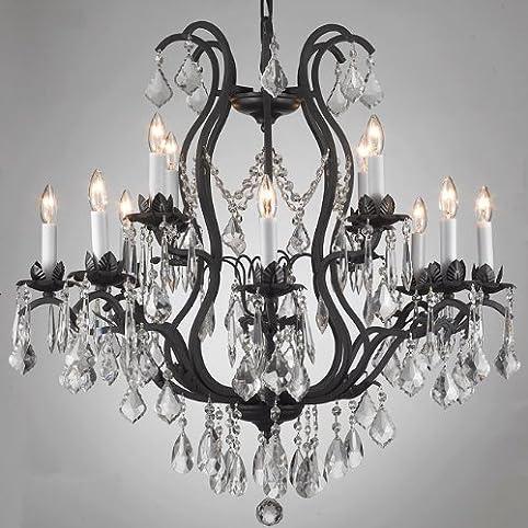 Wrought iron chandelier chandeliers lighting dressed with swarovski wrought iron chandelier chandeliers lighting dressed with swarovski crystal aloadofball Gallery