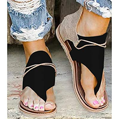 Moilant Sandals for Women Flat,Comfy Sandals Leopard Print/Solid Color Flats Casual Summer Beach Shoes with Zipper: Clothing