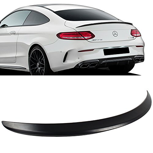 Pre-Painted Trunk Spoiler Fits 2015-2017 Mercedes-Benz C Class W205 2Dr Coupe C205 | AMG Style #040 Black ABS Rear Wing by IKON MOTORSPORTS | 2016