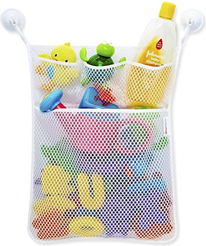 Bath Toy Organizer Lillypet Mesh Net Toy Storage Bag For Baby Boys Girls With Two Suction Cups, Multiple Pockets