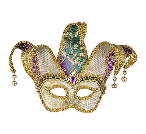 Jester Costume For Woman (F62697 Color Changing Mardi Gras Jester Mask)