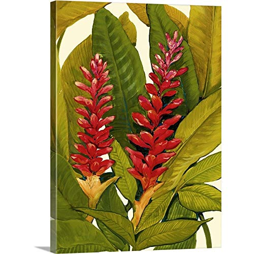 Tropical Red Ginger Canvas Wall Art Print, 18 x24 x1.25