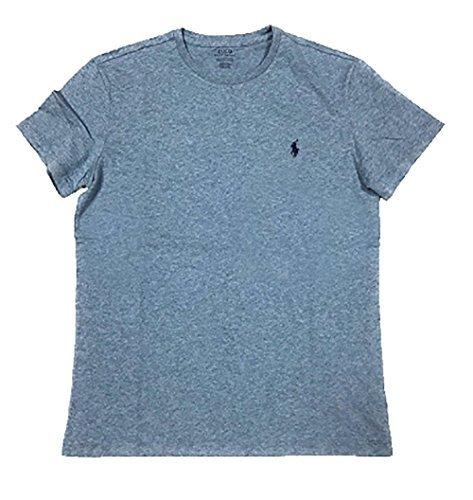 Relaxed T-shirt Crew Love (Polo Ralph Lauren Men's Classic Fit Solid Crewneck T-Shirt (X-Large, Ocean Heather))