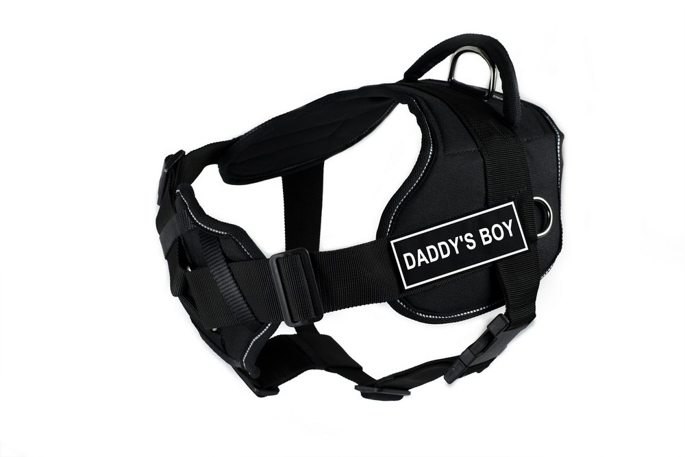Dean & Tyler 28 to 34-Inch Daddy's Boy Fun Harness with Padded Chest Piece, Medium, Black