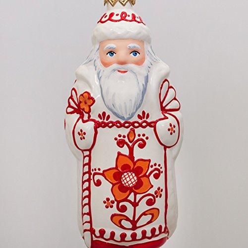 Glass Christmas Tree Ornament 'Santa Claus / Ded Moroz'