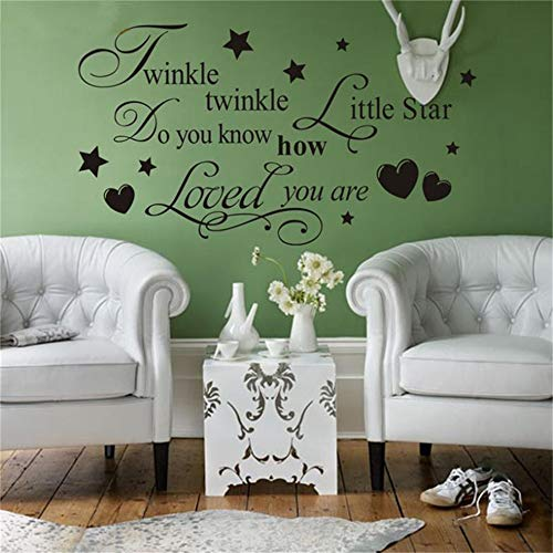 - Qquende Wall Stickers Art Decor Decals Twinkle Litter Star Quotes Decorative Living Room Bedroom Decoration Wedding Characters Home