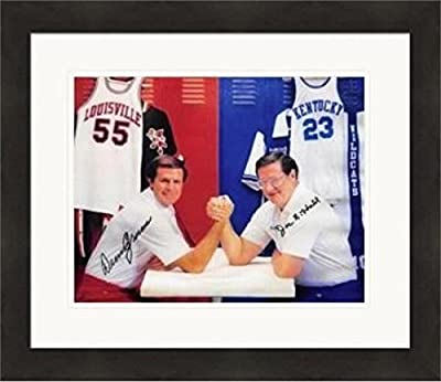 Signed Crum Photograph - & Joe B Hall 8x10 Kentucky Wildcats vs #SC1 Matted & Framed - Autographed College Photos