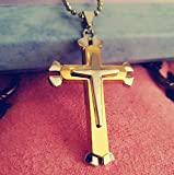 Nurbo Men's Stainless Steel Cross Pendant Chain Necklace Charm Costume Jewelry