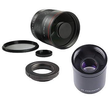 F Fityle Lente de Espejo Teleobjetivo de 900 mm F / 8 Enfoque ...