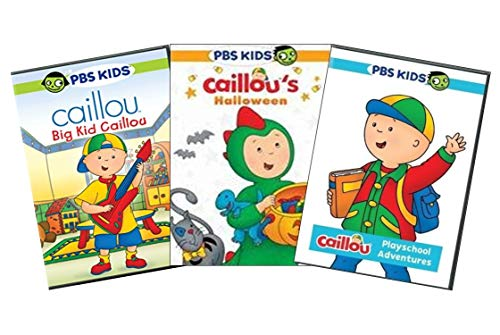 PBS Caillou Learning 3-DVD Collection Volume 1: Big Kid Caillou / Caillou's Halloween / Caillou Playschool Adventures [Educational Set] -