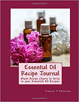 essential oil recipe journal blank recipe pages to write in your