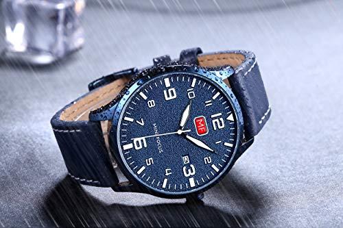 7b60cfeab4 mini focus うで時計 メンズ レザー ビジネスカジュアル シンプル オシャレ クォーツ アナログ 防水 ファッション 男性