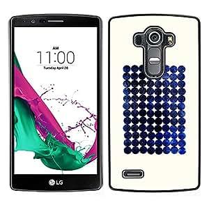 LECELL--Funda protectora / Cubierta / Piel For LG G4 -- Blueberry espacio minimalista a cuadros --