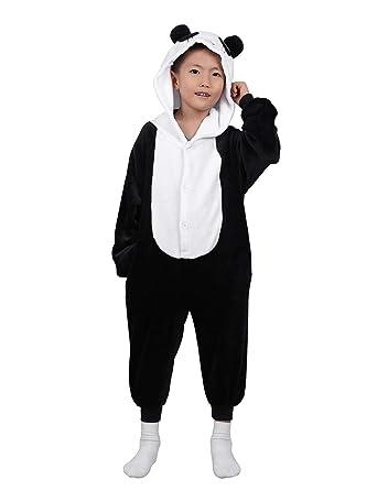 fcbce75b30253 CHICTRY Unisexe Enfants Flille Garçon Panda Pyjama Combinaison à Capuche  Mignon Animaux Déguisement Licorne Cosplay Costume