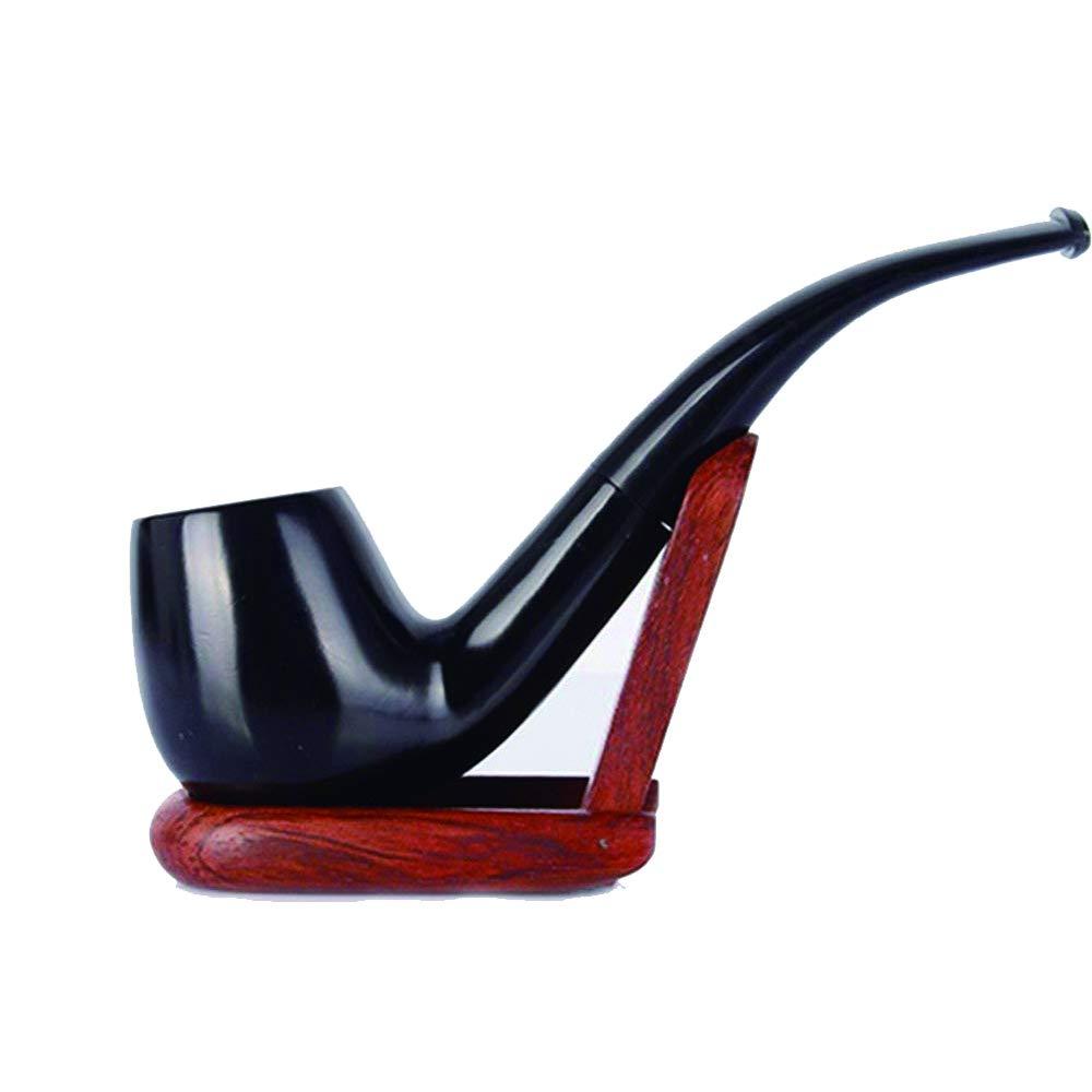 UrChoiceLtd® FuTeng Humo De Tabaco Pipe Classic Marrón ébano 9MM Semi Manual Filtrar Elemento Madera Fumar Tabaco Tubos De Tubería De Especie Mejor FT 01429 Para Regalo Hecho a Mano FuTeng-860