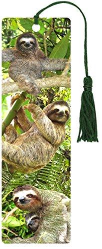 Sloths 3-D Bookmark (Lenticular Bookmark)]()