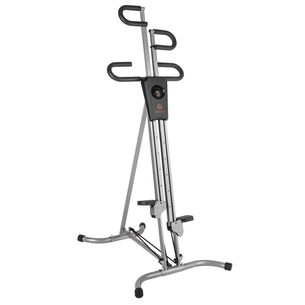 Vertical Climber Climbing Machine Cardio Workout Exercise Machine with Adjustable Resistance and LCD Monitor for Home Gym Fitness