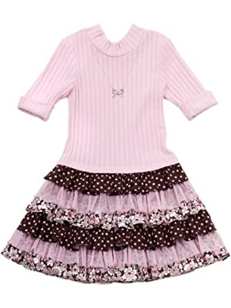 Rare Editions Girls Tiered Ruffle Dress (5)