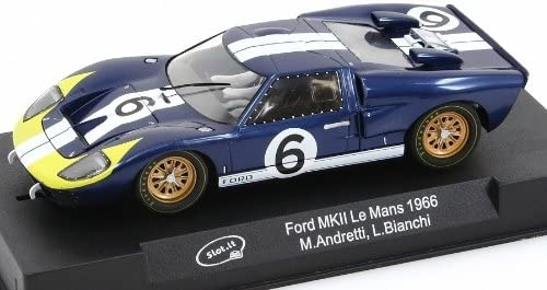 #CA20a Slot.It Ford MKII #6 LeMans 1966 1/32 Scale Slot Car 511G4-mxVYL