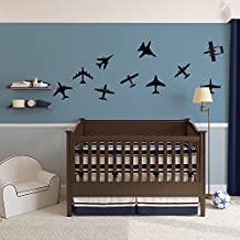 Airplanes Vinyl Wall Art Decal Pack for Kids and Children's Nursery