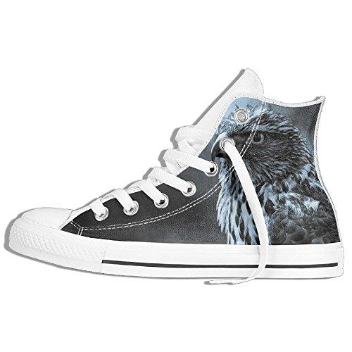 Classiche Sneakers Alte Scarpe Di Tela Anti-skid Eagle Birds Casual Walking Per Uomo Donna Bianco