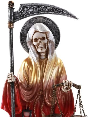 Pacific Giftware Santa Muerte Saint of Holy Death Standing Religious Statue 10 Inch Seven Powers Rainbow Pacific Trading 11549