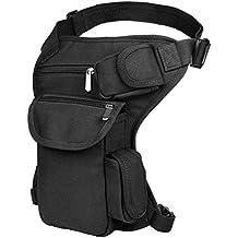 VBIGER Mens Drop Leg Bag Retro Canvas Sports Racing Tactical Leg Bag Durable Outdoor Waist Bag Sports Fanny Thigh Pack Practical Tactics Waist Pouch