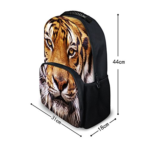 Polyester ThiKin Trip School Laptop Cat Bookbags College Double Students Hiking Cute Stylish Felt Bag for Weekend Dog Travelling Black Daypacks Backpacks Print Casual zipped Casual Backpack dog5 TYfST