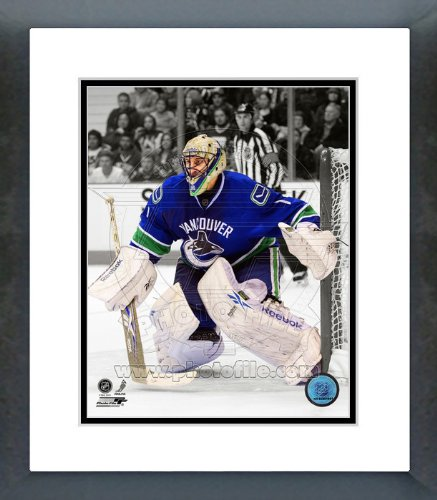 Nhl Vancouver Canucks Framed (Roberto Luongo Vancouver Canucks Spotlight Framed Picture 8x10)