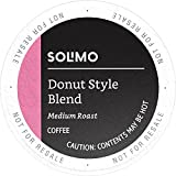 Amazon Brand - 100 Ct. Solimo Medium-Light Roast Coffee K-Cup Pods, Donut Style, Compatible with 2.0 K-Cup Brewers
