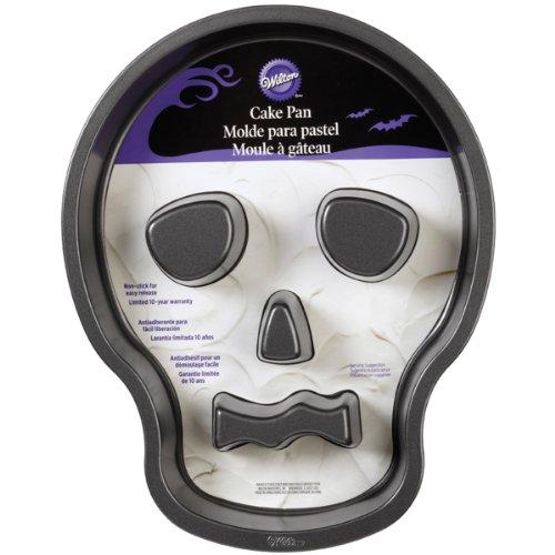 Wilton 2105-7792 Skull Cake Pan with Flutes -