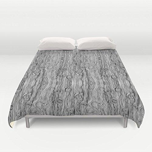 Amazon.com: Black and white wood grain duvet cover. Unique ...