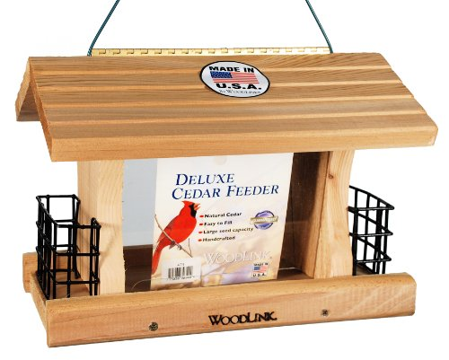 Woodlink Deluxe Cedar Bird Feeder with Suet Cages Model AT4 by Woodlink