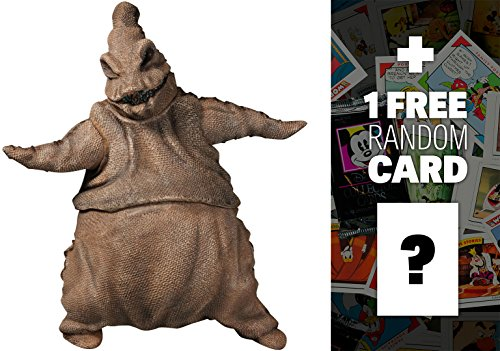 Oogie Boogie: Diamond Select x Nightmare Before Christmas Action Figure Wave 1 + 1 FREE Classic Disney Trading Card Bundle (81299)